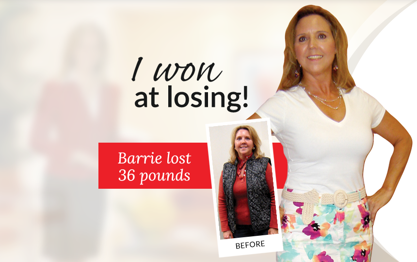 I won at losing! Barrie lost 36 pounds